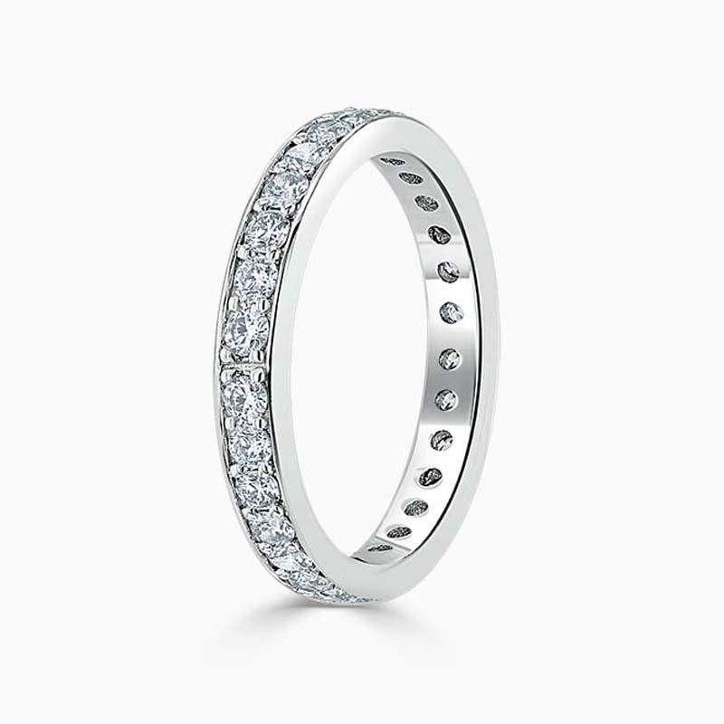 Platinum 3.50mm Round Brilliant Pavé Set Full Eternity Ring