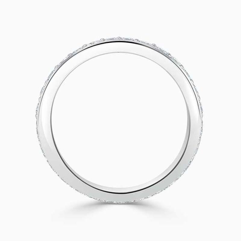18ct White Gold 3.50mm Round Brilliant Pavé Set Full Eternity Ring