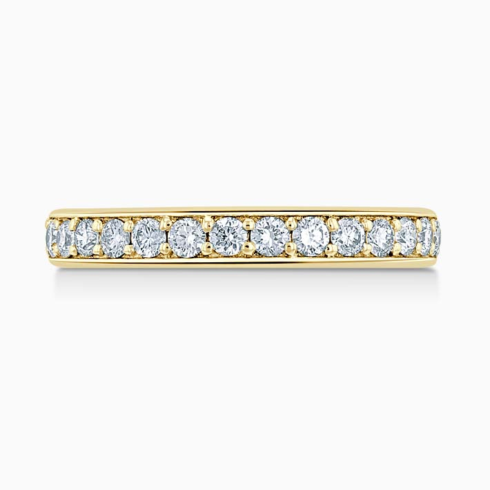 18ct Yellow Gold 3.50mm Round Brilliant Pavé Set Three Quarter Eternity Ring