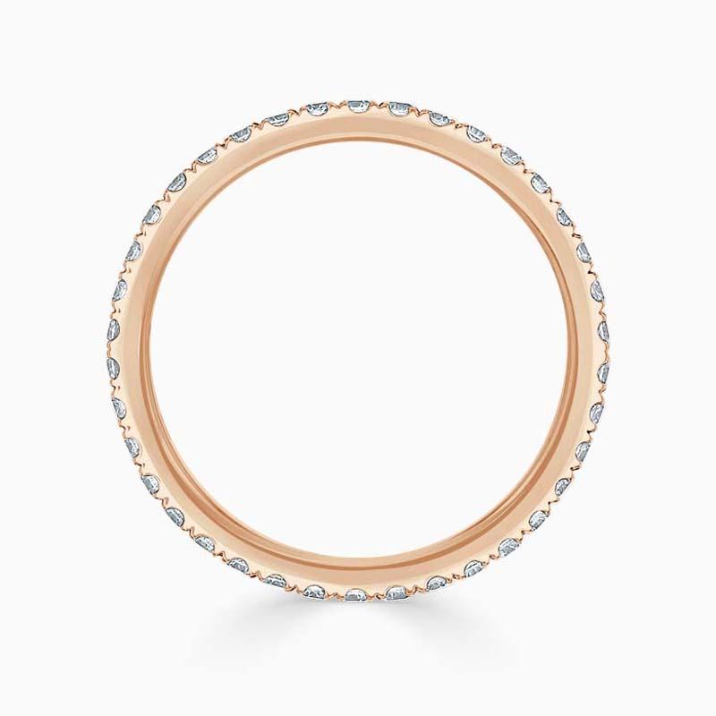 18ct Rose Gold 1.80mm Round Brilliant Cutdown Set Full Eternity Ring