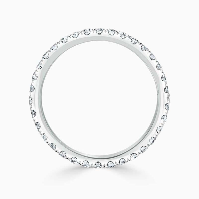 18ct White Gold 2.00mm Round Brilliant Cutdown Set Full Eternity Ring
