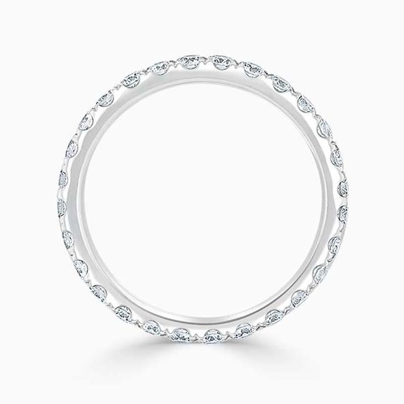 18ct White Gold 2.25mm Round Brilliant Cutdown Set Full Eternity Ring