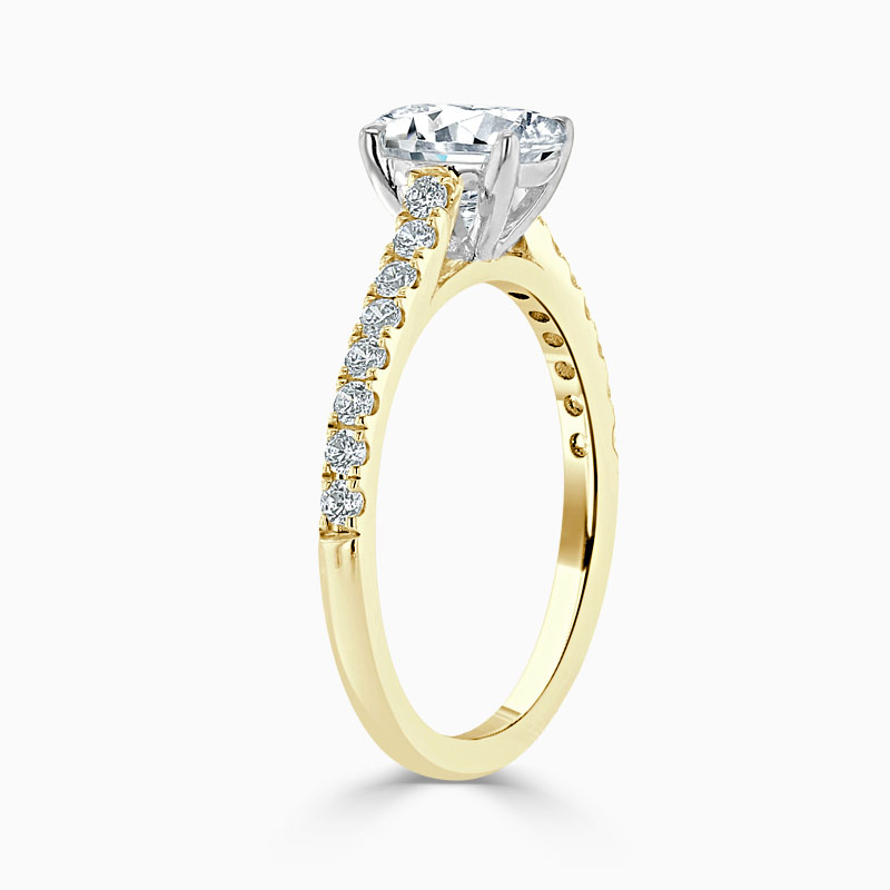 18ct Yellow Gold Oval Shape Classic Wedfit Cutdown Engagement Ring