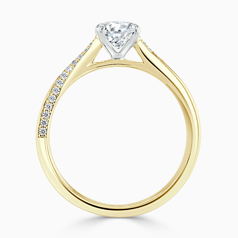 18ct Yellow Gold Oval Shape Vortex Engagement Ring