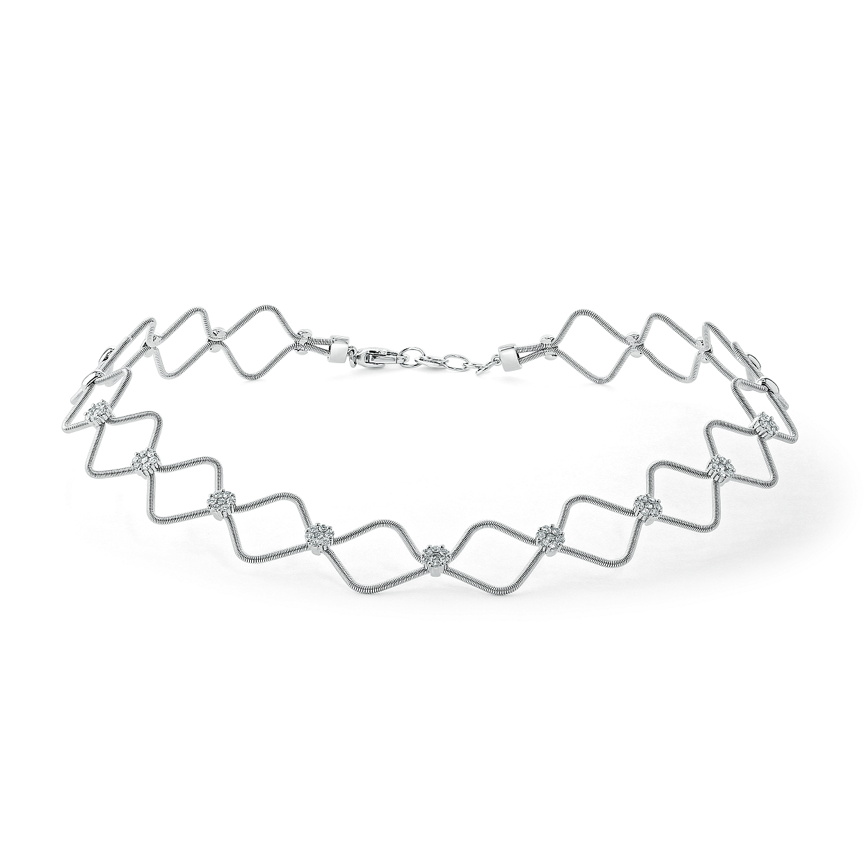 18ct White Gold Florence Diamond Necklace