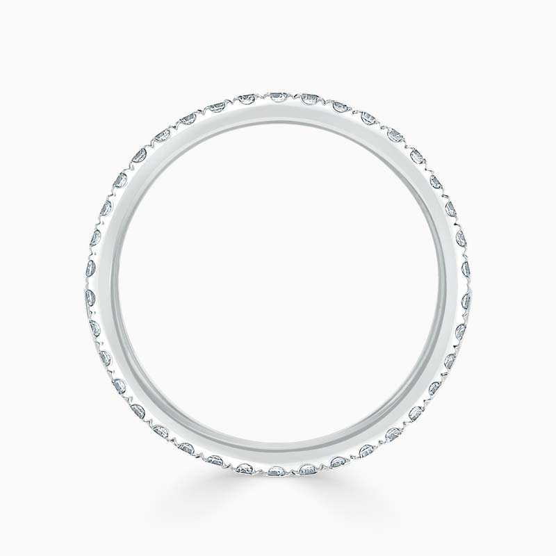 18ct White Gold 1.80mm Round Brilliant Cutdown Set Full Eternity Ring