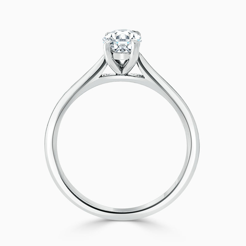 18ct White Gold Oval Shape Classic Wedfit Engagement Ring