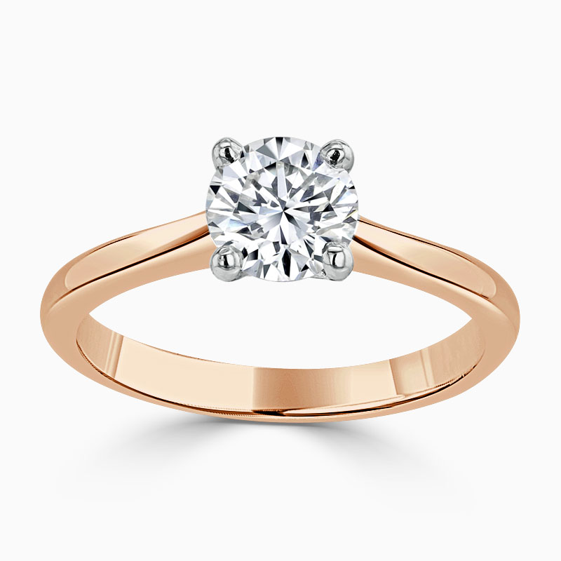 18ct Rose Gold Round Brilliant Classic Wedfit Engagement Ring