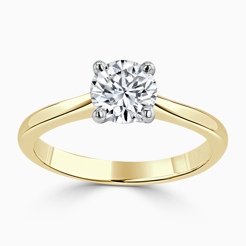 18ct Yellow Gold Round Brilliant Classic Wedfit Engagement Ring