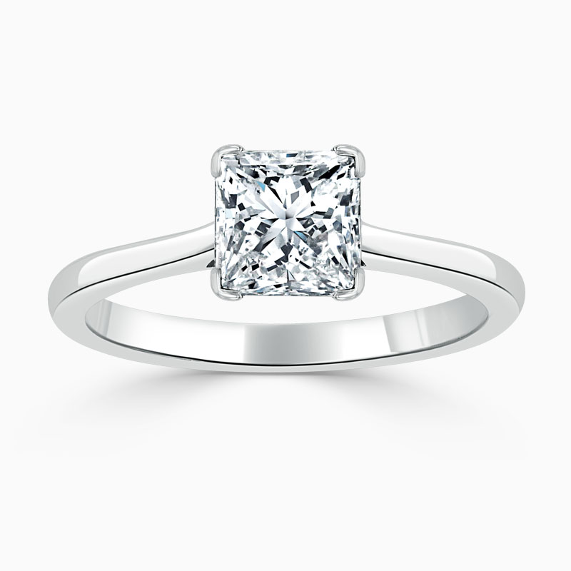 18ct White Gold Princess Cut Classic Wedfit Engagement Ring