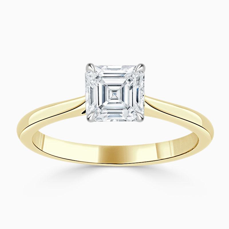18ct Yellow Gold Asscher Cut Classic Wedfit Engagement Ring
