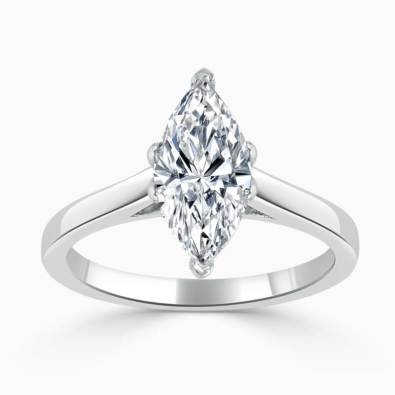 Platinum Marquise Cut Classic Wedfit Engagement Ring