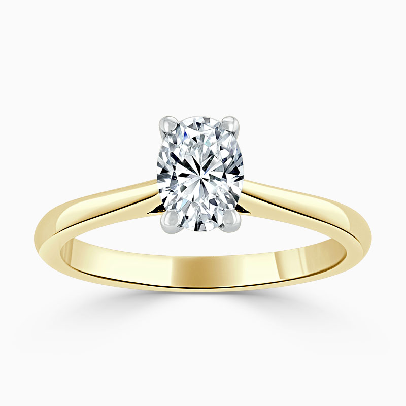 18ct Yellow Gold Oval Shape Classic Wedfit Engagement Ring