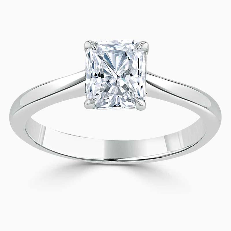 Platinum Radiant Cut Classic Wedfit Engagement Ring