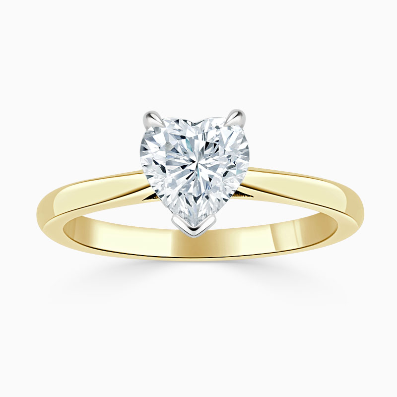18ct Yellow Gold Heart Shape Classic Wedfit Engagement Ring
