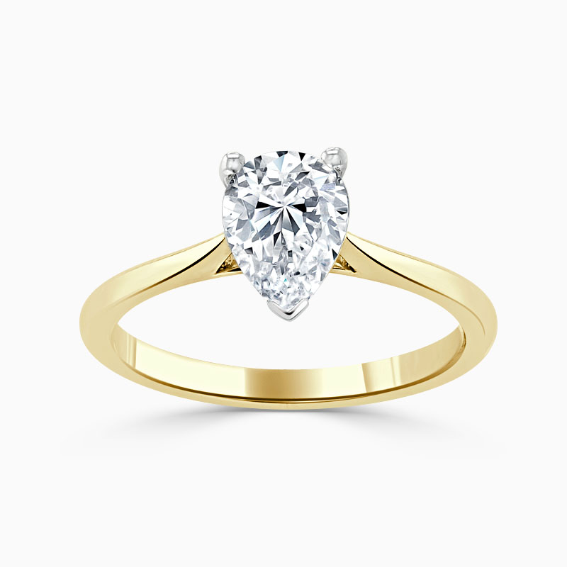 18ct Yellow Gold Pear Shape Classic Wedfit Engagement Ring