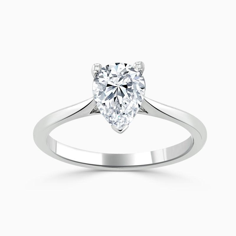 Platinum Pear Shape Classic Wedfit Engagement Ring