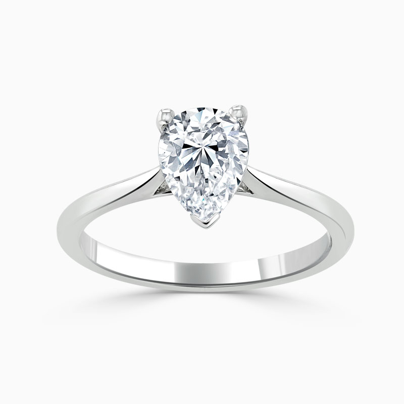 Platinum Pear Shape Classic Wedfit Engagement Ring
