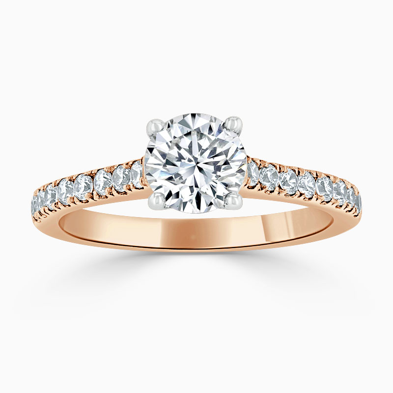 18ct Rose Gold Round Brilliant Classic Wedfit Cutdown Engagement Ring