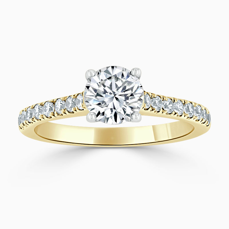 18ct Yellow Gold Round Brilliant Classic Wedfit Cutdown Engagement Ring