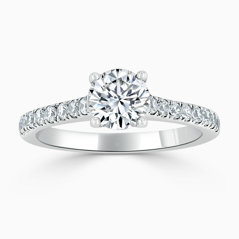 Platinum Round Brilliant Classic Wedfit Cutdown Engagement Ring