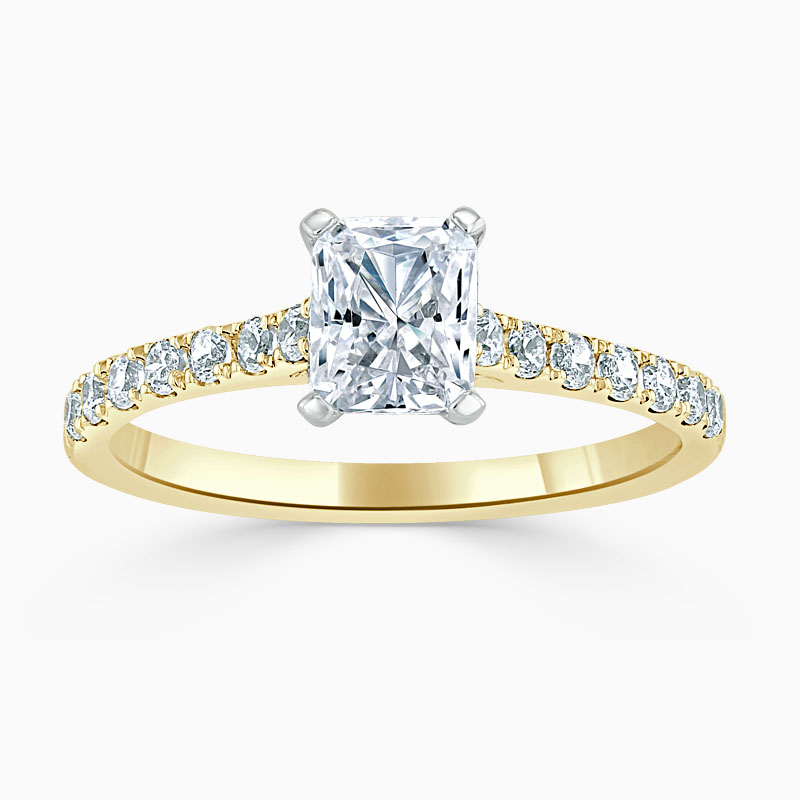 18ct Yellow Gold Radiant Cut Classic Wedfit Cutdown Engagement Ring
