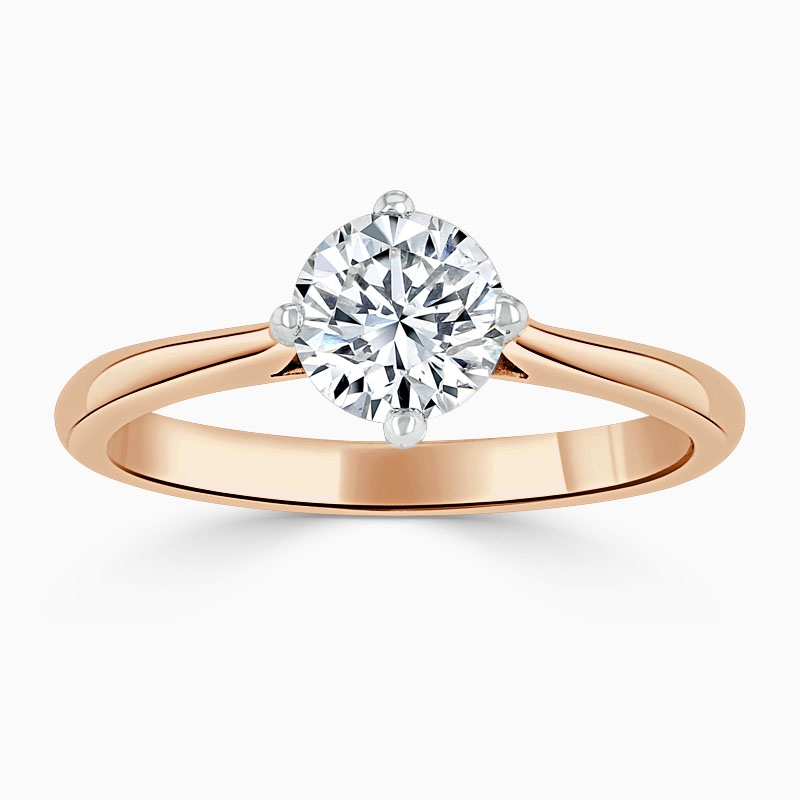 18ct Rose Gold Round Brilliant Compass Engagement Ring