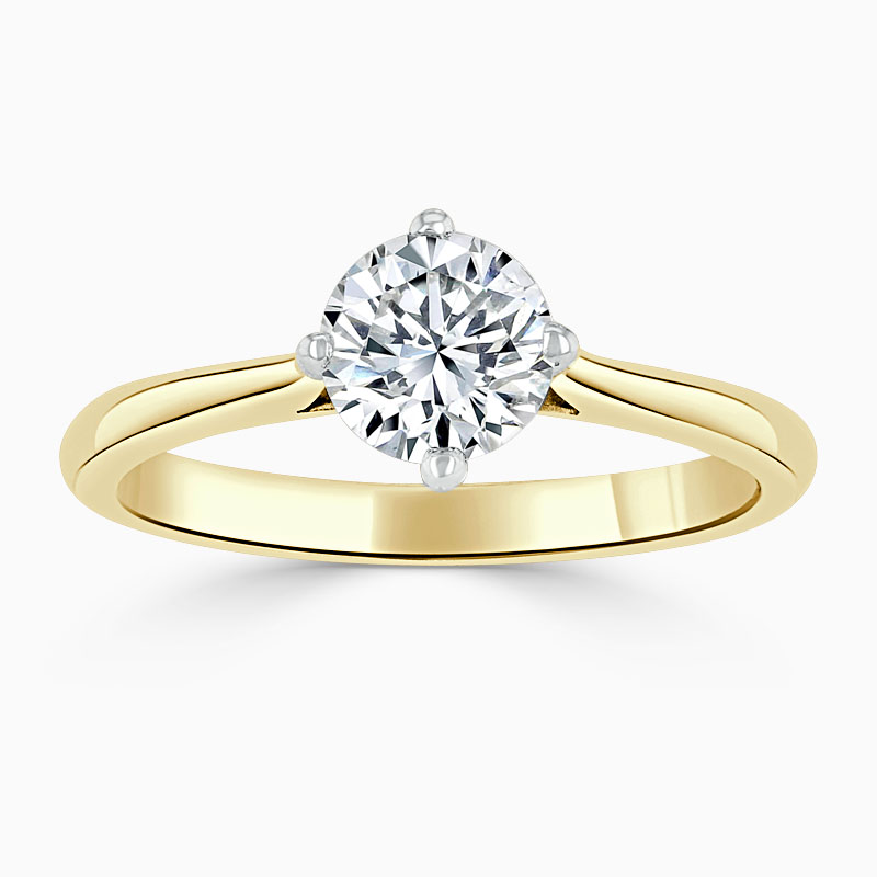 18ct Yellow Gold Round Brilliant Compass Engagement Ring