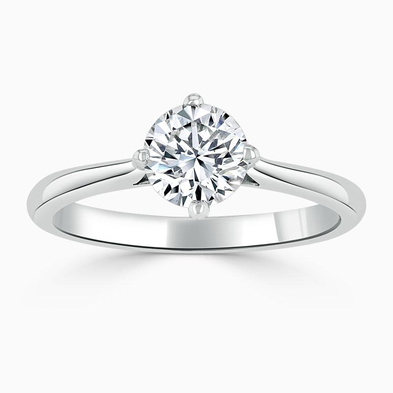 Platinum Round Brilliant Compass Engagement Ring