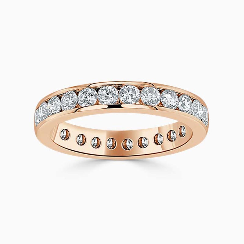 18ct Rose Gold 3.50mm Round Brilliant Channel Set Full Eternity Ring