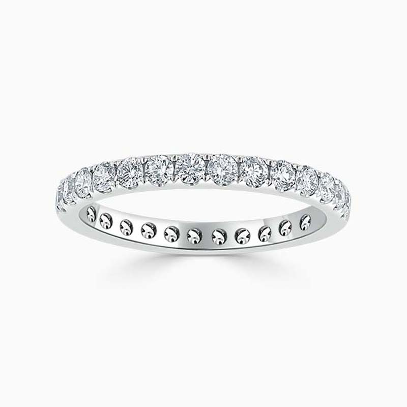 18ct White Gold 2.25mm Round Brilliant Cutdown Set Full Eternity Ring