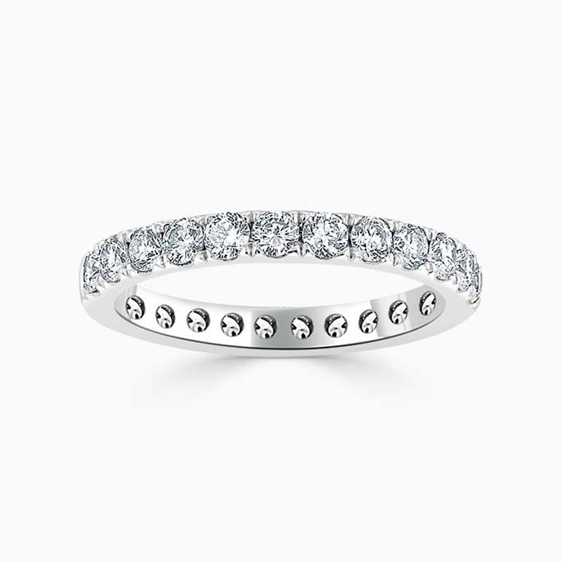 18ct White Gold 2.50mm Round Brilliant Cutdown Set Full Eternity Ring