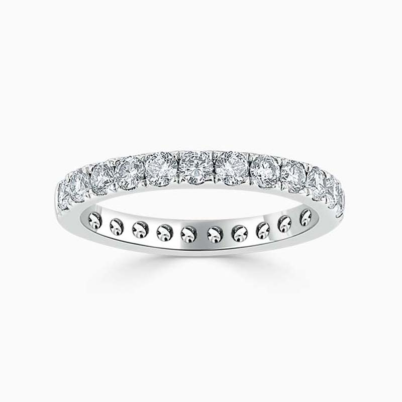18ct White Gold 2.75mm Round Brilliant Cutdown Set Full Eternity Ring