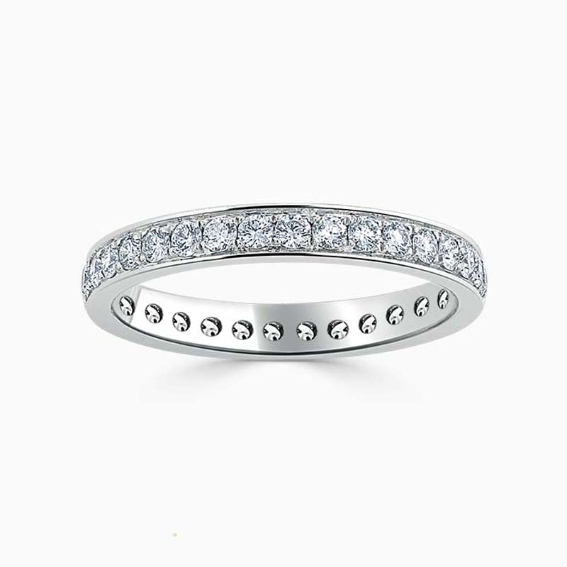 18ct White Gold 2.75mm Round Brilliant Pavé Set Full Eternity Ring