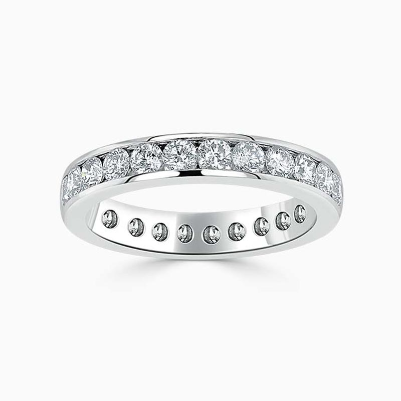 18ct White Gold 3.50mm Round Brilliant Channel Set Full Eternity Ring