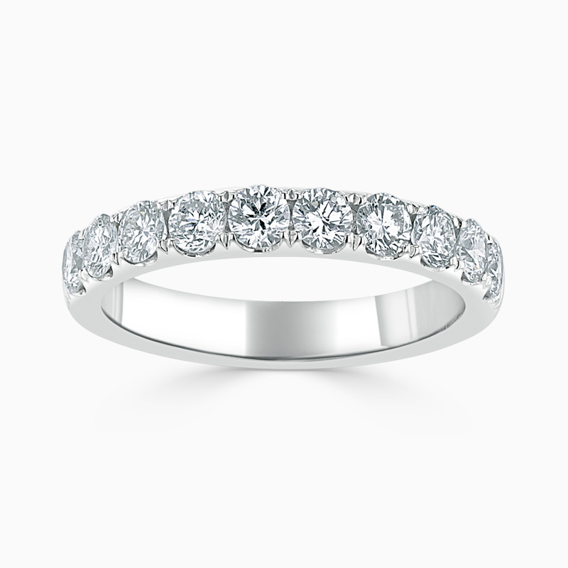18ct White Gold 3.25mm Round Brilliant Cutdown Set Half Eternity Ring