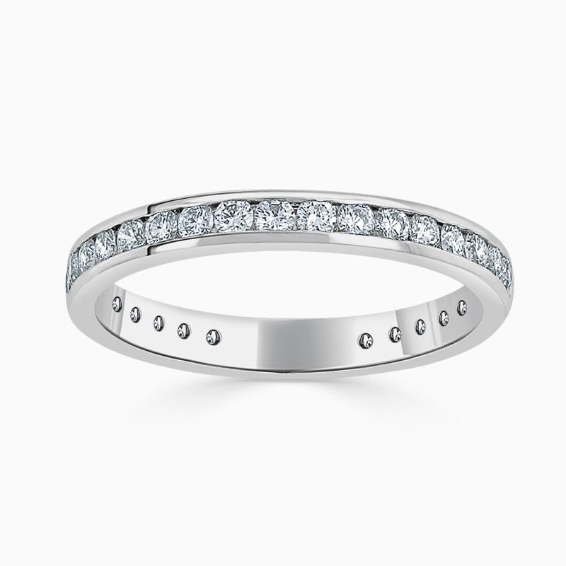 18ct White Gold 2.75mm Round Brilliant Channel Set Three Quarter Eternity Ring