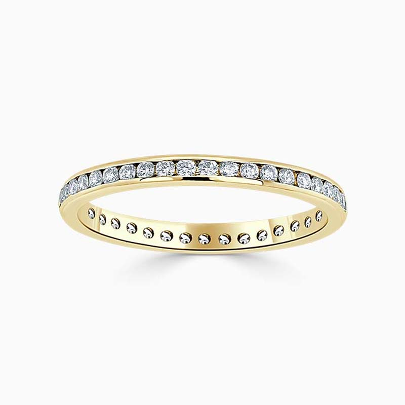 18ct Yellow Gold 2.00mm Round Brilliant Channel Set Full Eternity Ring