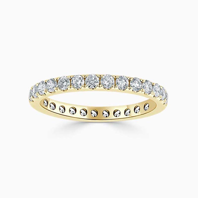 18ct Yellow Gold 2.25mm Round Brilliant Cutdown Set Full Eternity Ring