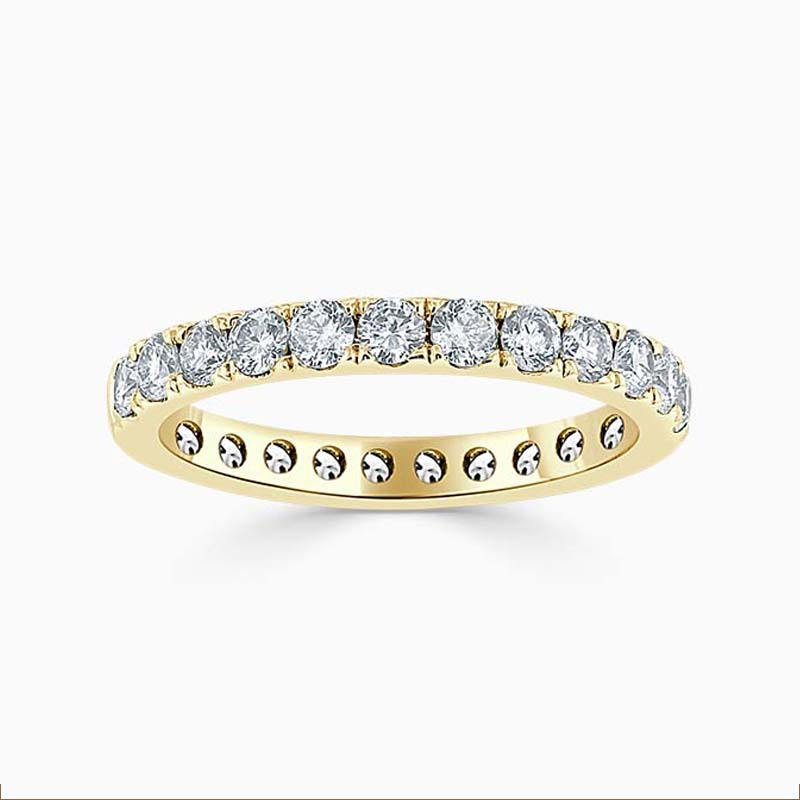 18ct Yellow Gold 2.75mm Round Brilliant Cutdown Set Full Eternity Ring