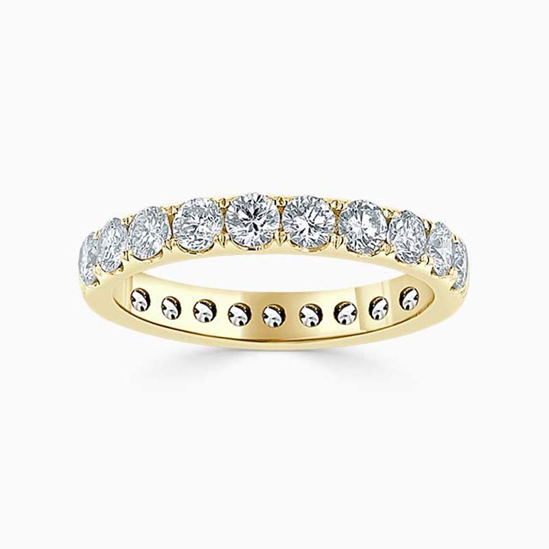 18ct Yellow Gold 3.00mm Round Brilliant Cutdown Set Full Eternity Ring