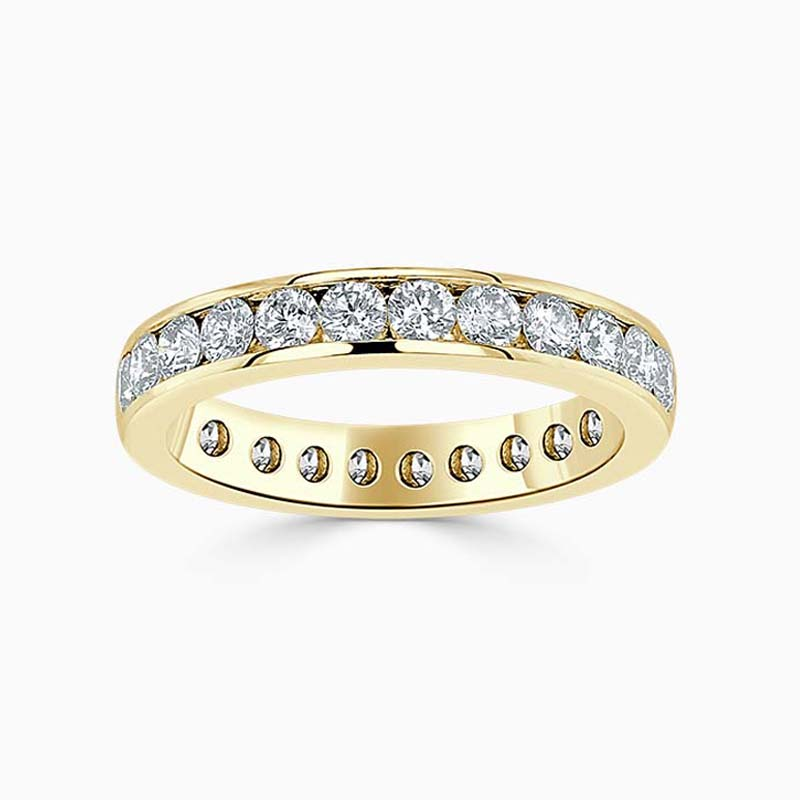 18ct Yellow Gold 3.50mm Round Brilliant Channel Set Full Eternity Ring
