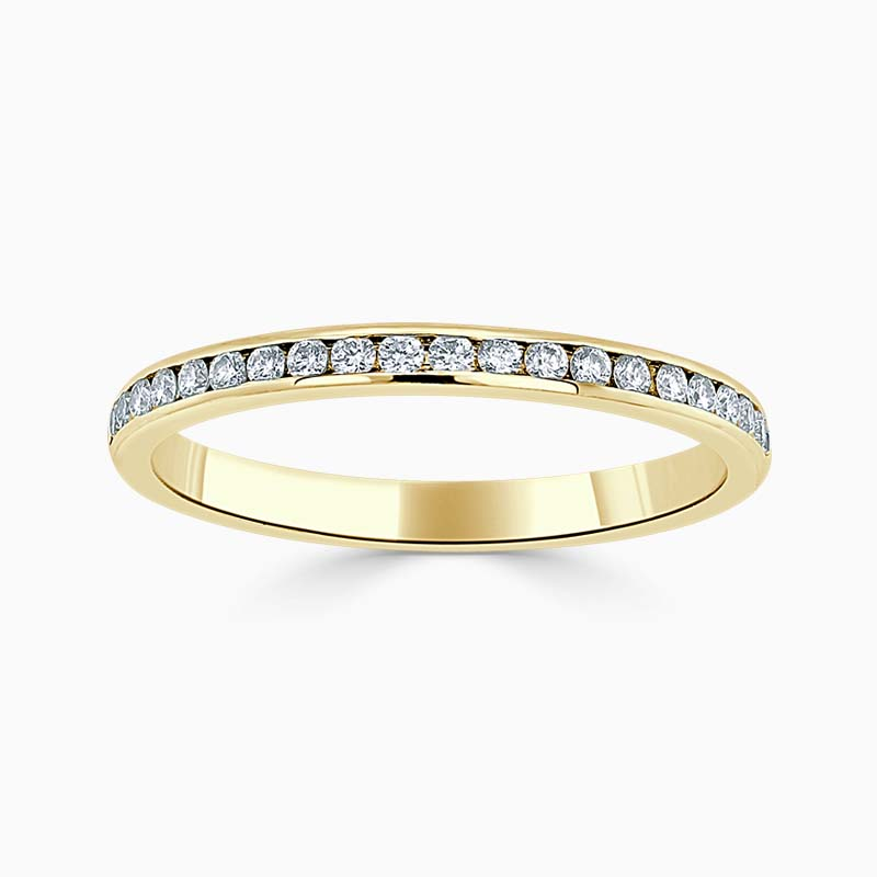 18ct Yellow Gold 2.00mm Round Brilliant Channel Set Half Eternity Ring