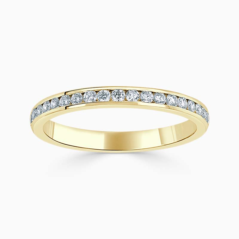 18ct Yellow Gold 2.25mm Round Brilliant Channel Set Half Eternity Ring
