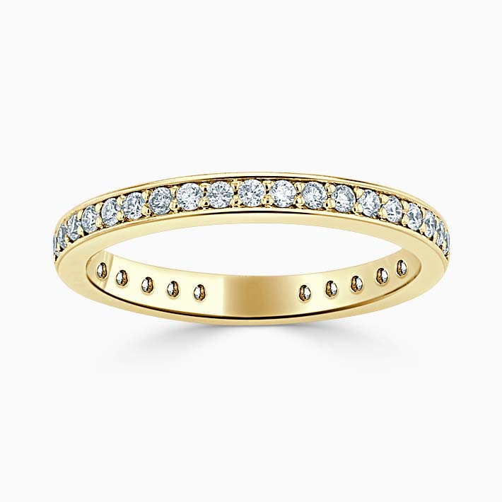 18ct Yellow Gold 2.25mm Round Brilliant Pavé Set Three Quarter Eternity Ring