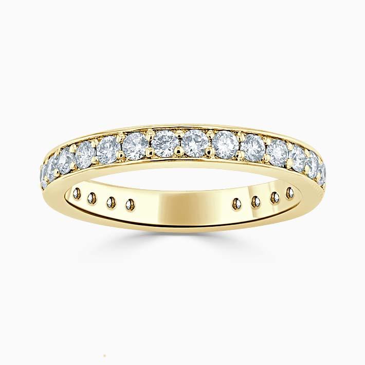 18ct Yellow Gold 3.00mm Round Brilliant Pavé Set Three Quarter Eternity Ring