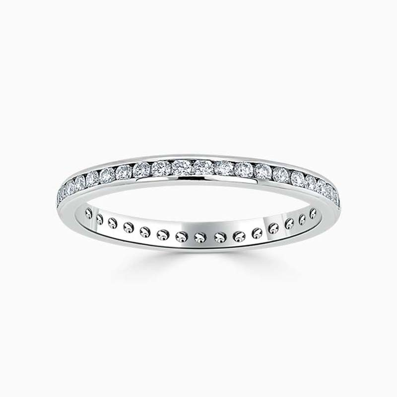 Platinum 2.00mm Round Brilliant Channel Set Full Eternity Ring