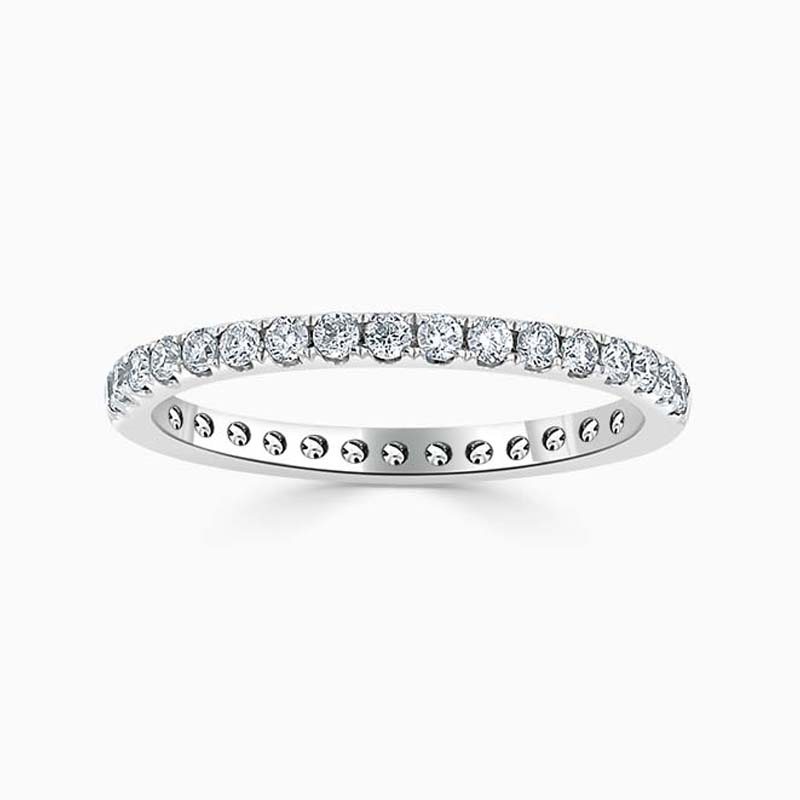 Platinum 2.00mm Round Brilliant Cutdown Set Full Eternity Ring