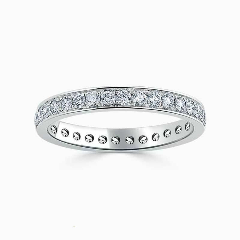 Platinum 2.75mm Round Brilliant Pavé Set Full Eternity Ring