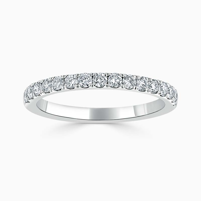 Platinum 2.00mm Round Brilliant Cutdown Set Half Eternity Ring